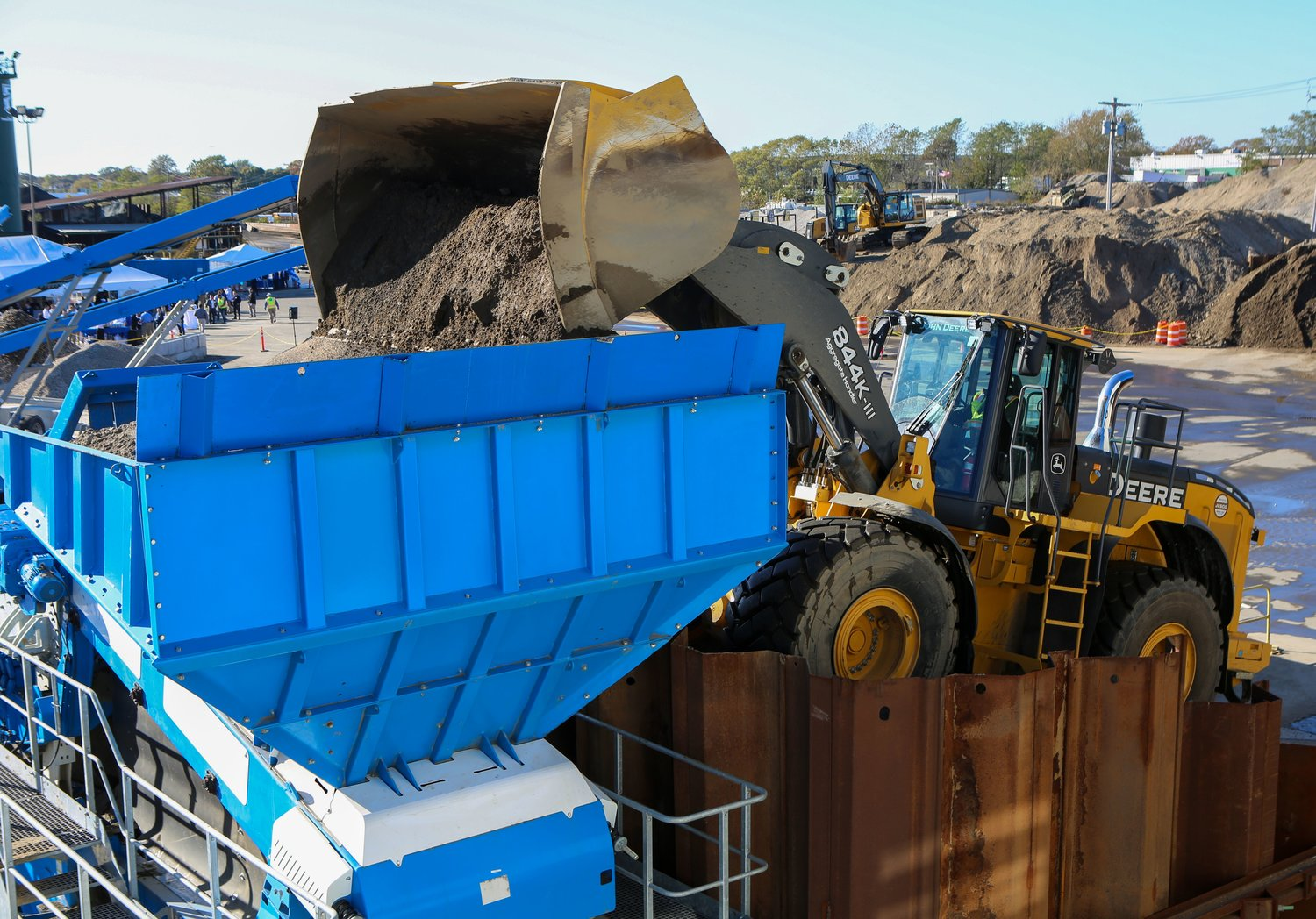 A truckload of soil from Harbor Isle was treated at the plant.