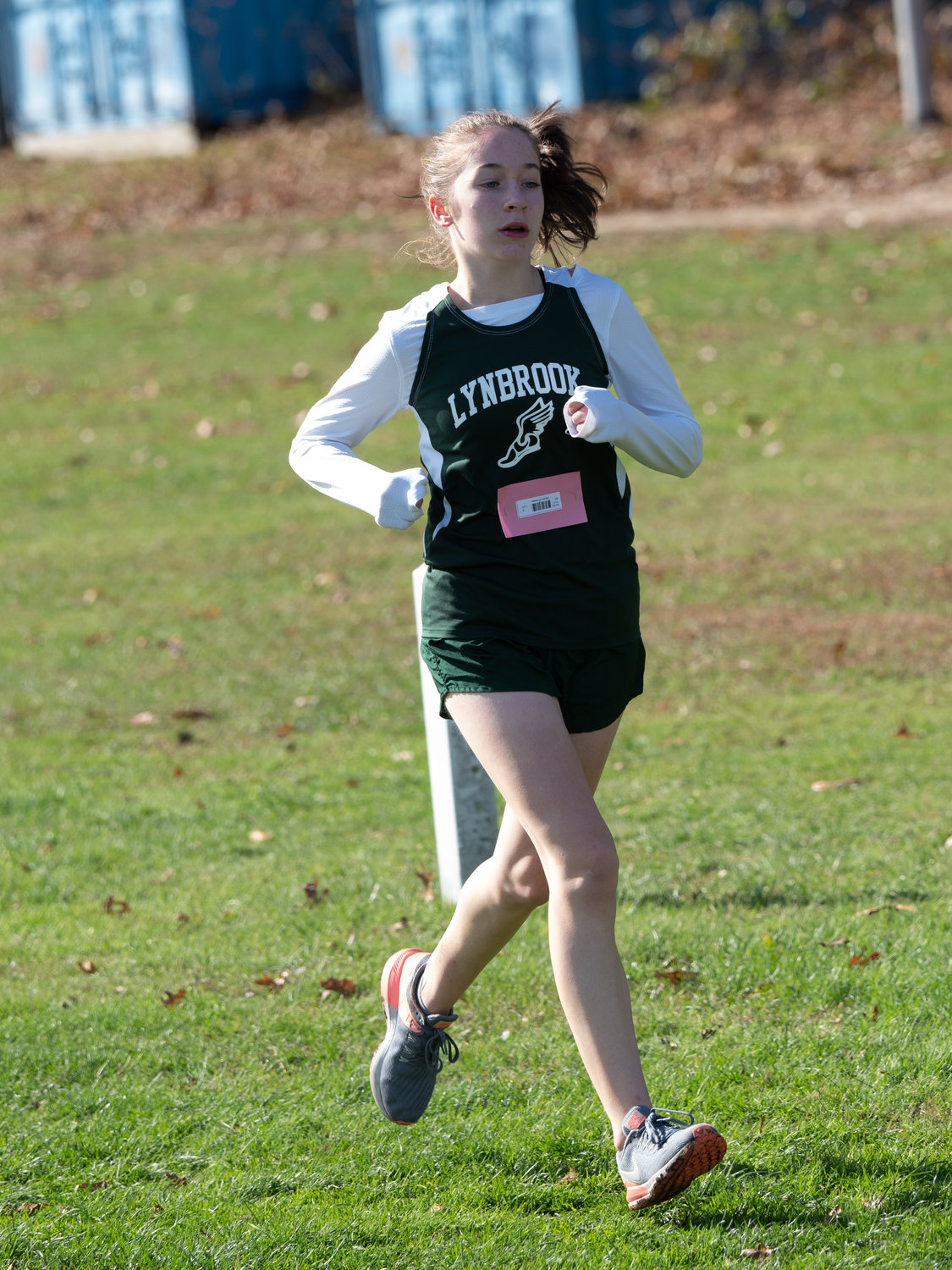 Freshman Kaelyn O'Brien thrived this year for Lynbrook's girls' cross country team, which captured its first county title on Nov. 2