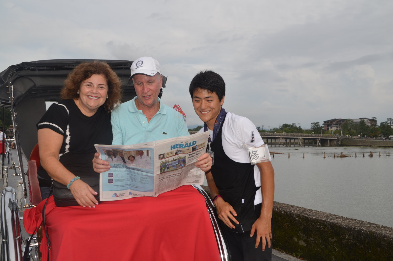 From Lawrence to Kyoto, Japan, Malky and Jay Spector took a rickshaw ride with the Nassau Herald.