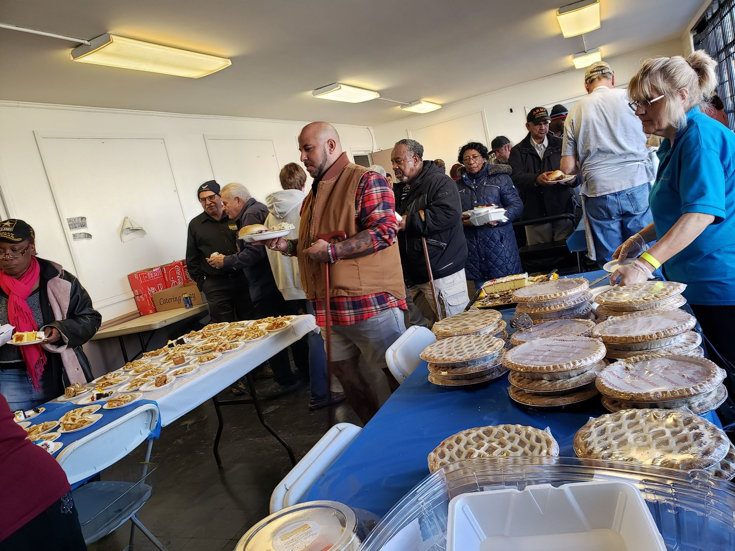 Veterans and their families enjoyed a Thanksgiving meal with all of the trimmings and deserts during the winter Veteran Stand Down.