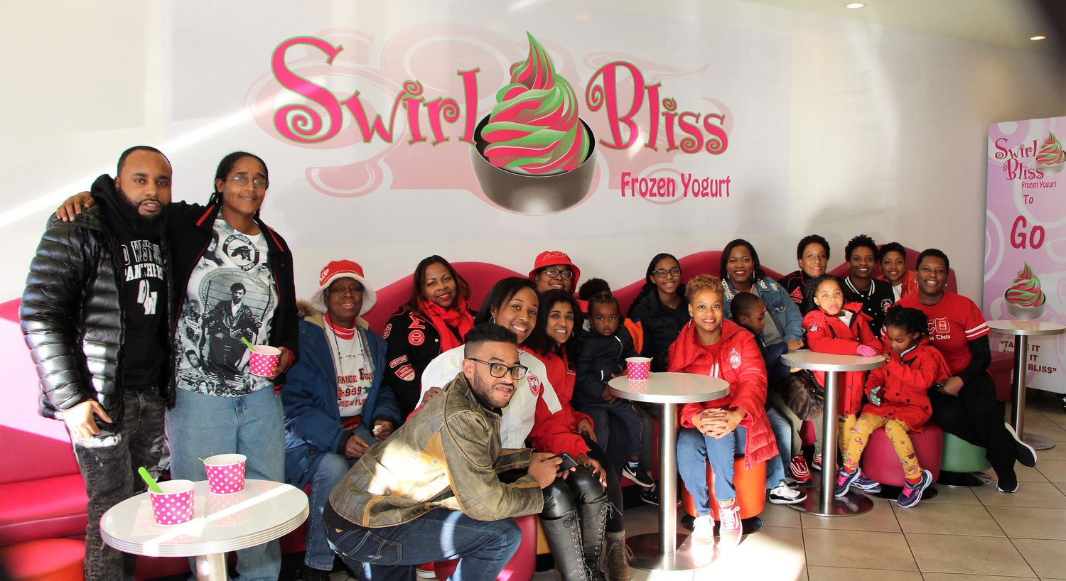 The Nassau Alumnae Chapter of the Delta Sigma Theta Sorority patronized small businesses around Nassau County, including Swirl Bliss in Baldwin, last Saturday during its third annual Small Business Crawl.