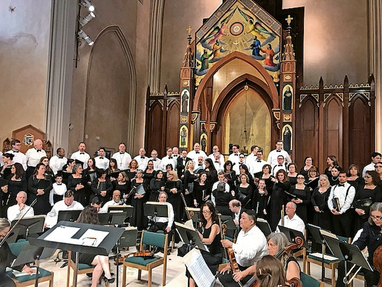 The several St. Agnes choirs last came together for a concert in June. They will convene again for the Christmas concert on Dec. 13.