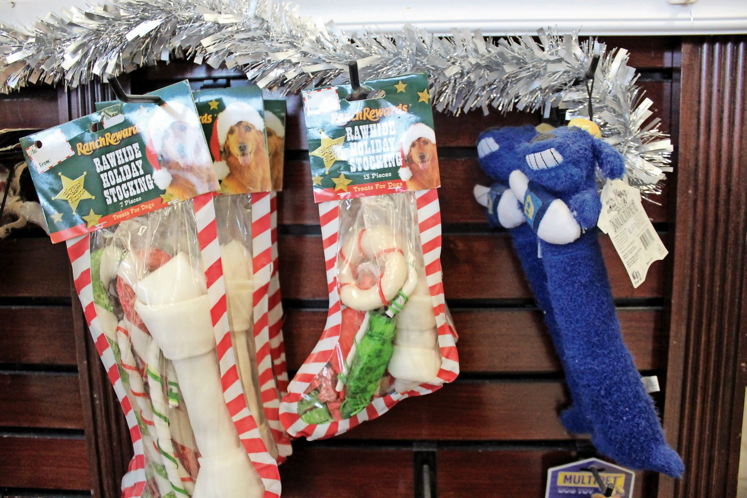 Customers can buy dog treats and toys at Puppy Love in Franklin Square.