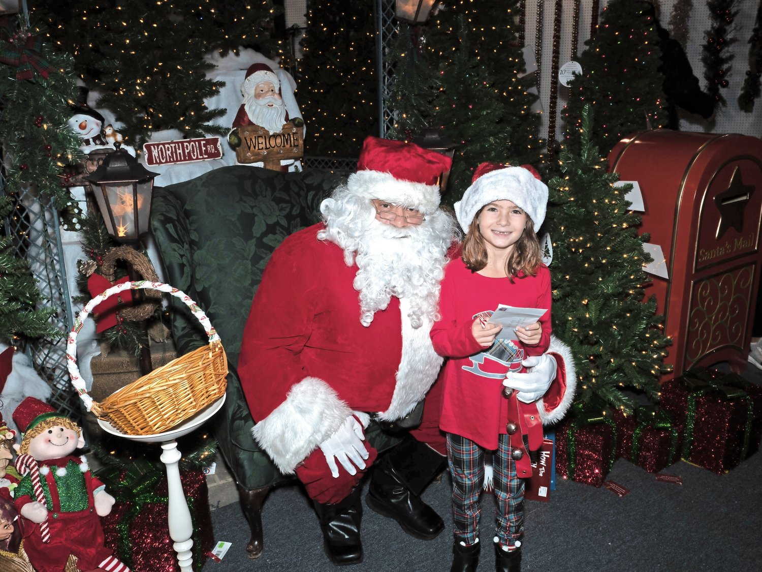 Melody Murphy, 7, took a photo with Santa.