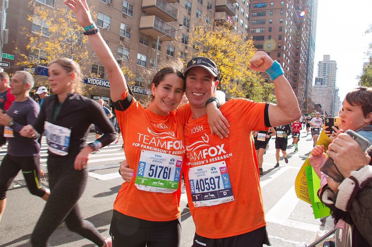The Michael J. Fox Foundation for Parkinson's Research gained $8,545 as Hewlett High alumna Elissa Candiotti and Josh Candiotti after the NYC Marathon.