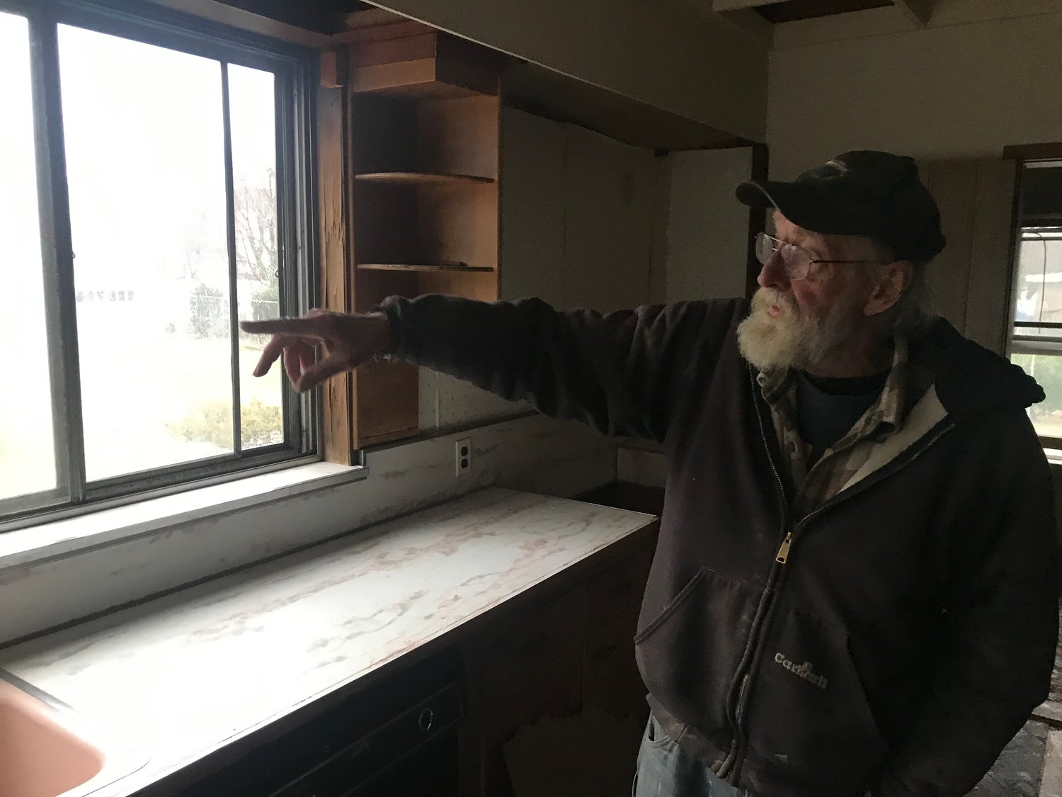 "Daniel Warren, a.k.a. the ""Wood Doctor,"" has been salvaging some of the items from the mansion before it is demolished."