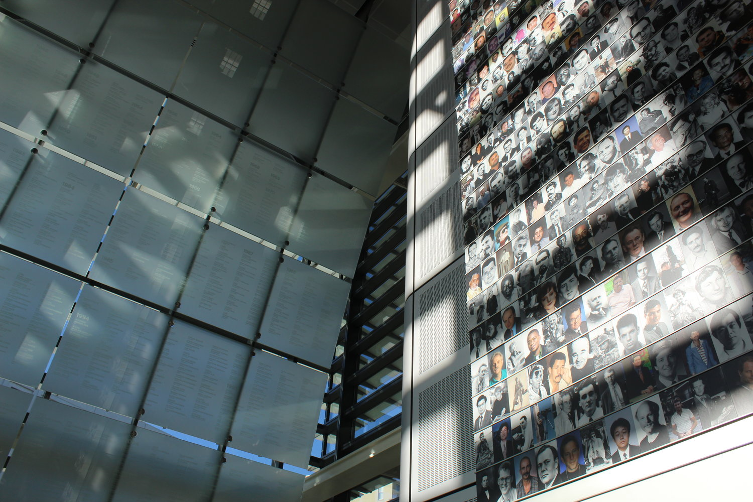 The Journalist Memorial on Level 3 lists the names of more than 2,000 reporters, editors, photographers and broadcasters who lost their lives reporting the news.