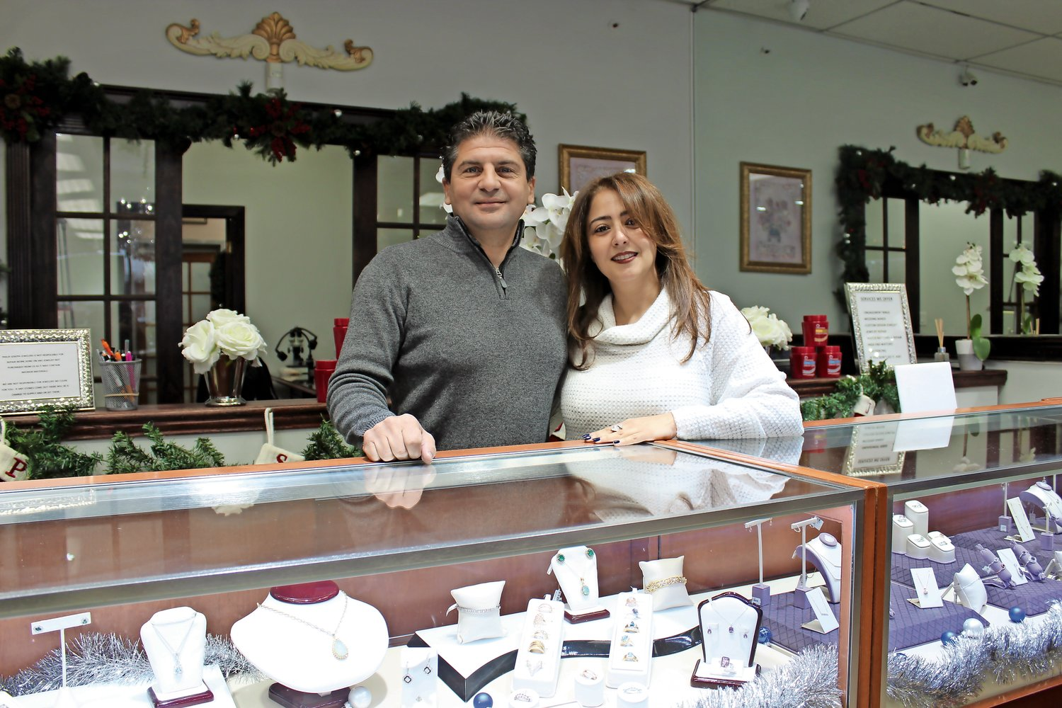 Phil Tavella and Neda Farahmanda, of Philip Joseph Jewelers, offer services that Amazon does not.