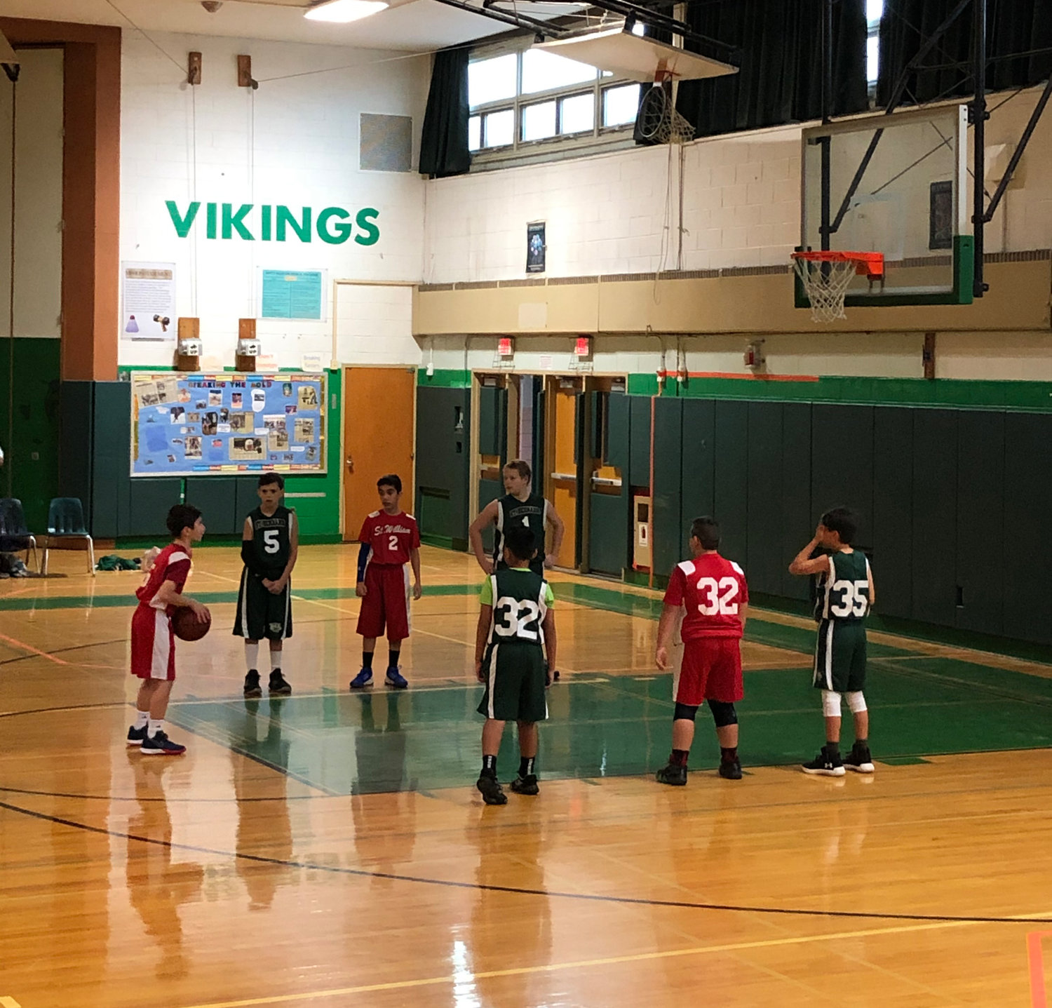 Throughout the CYO basketball season, young people are taught the fundamentals of the game by volunteer coaches.