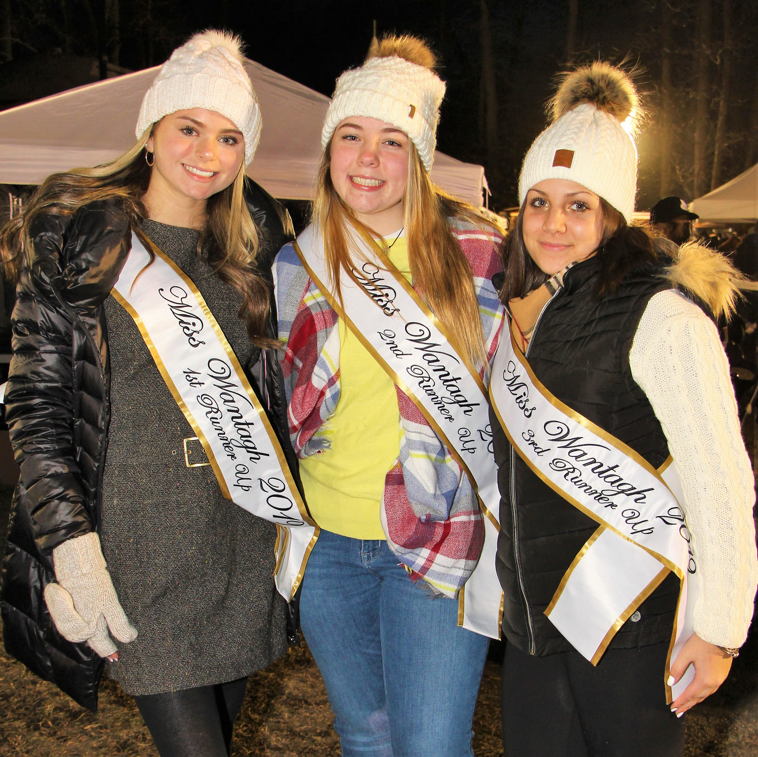 Members of the Miss Wantagh 2019 Court, far left, Grace Massari, from left, Ellen Cunnane and Angelina Maciak joined the festivities.