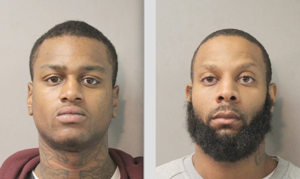 Police said they arrested Kasheem Latham, left, and Jamal Salter in connection to a robbery that reportedly took place early Saturday morning