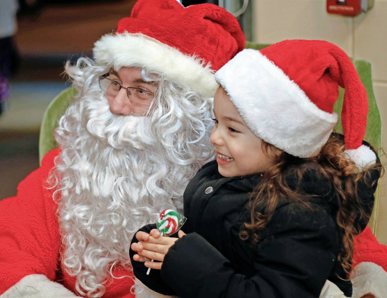 A Butterbean Kitchen and purple boots were two of the things Eva Pena, 4, told santa she wanted for christmas.