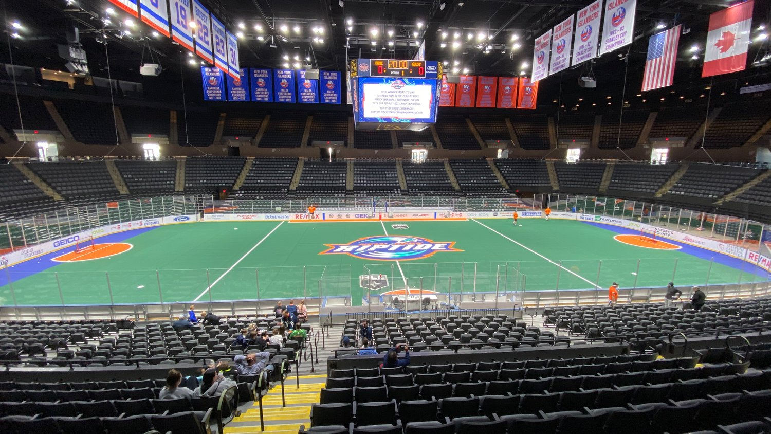 A look at NYCB Live's Nassau Coliseum as it hosts New York's newest pro sports team, the NLL's Riptide, for an open practice on Nov. 2, 2019.