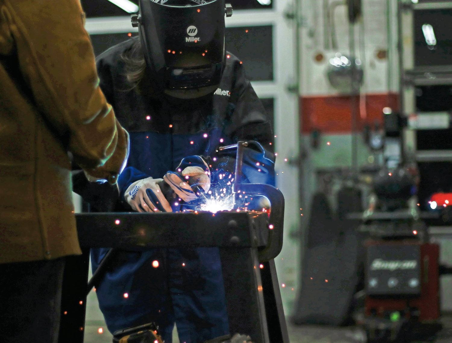 This writer had the chance to try her hand at welding.