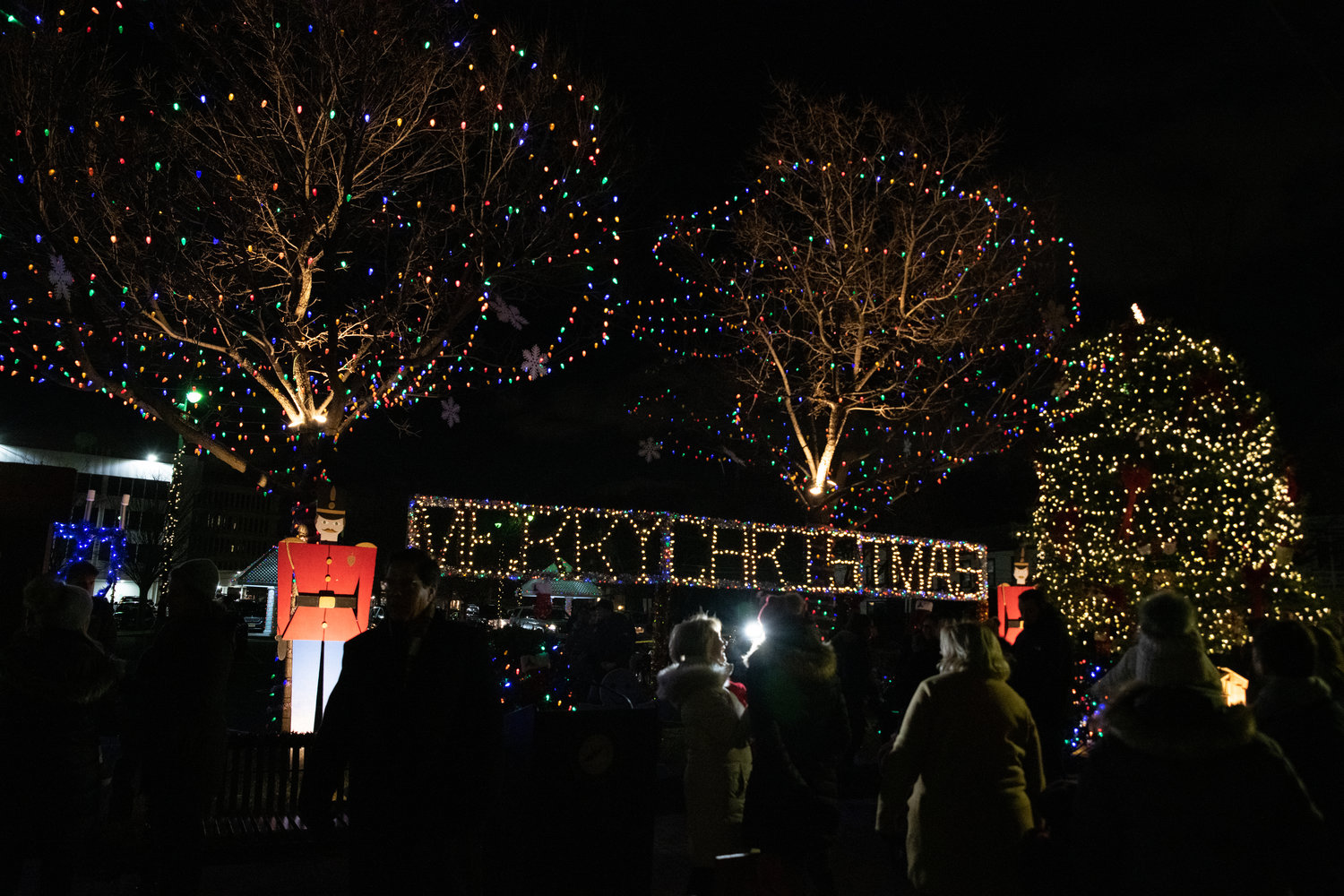 Lights lined Stauderman Avenue in Lynbrook to usher in the joyous season.