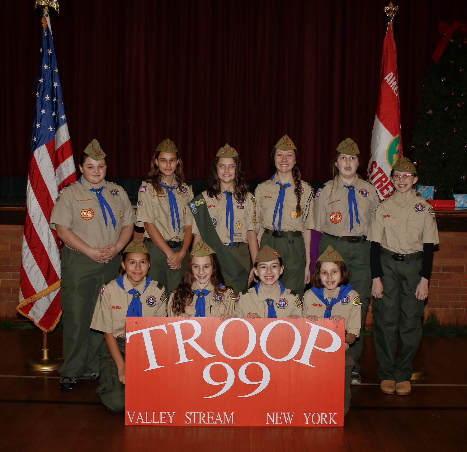The first ever all girl Court of Honor featured rank advancements, the first every Arrow of Light recipents and over 55 merit badges and awards