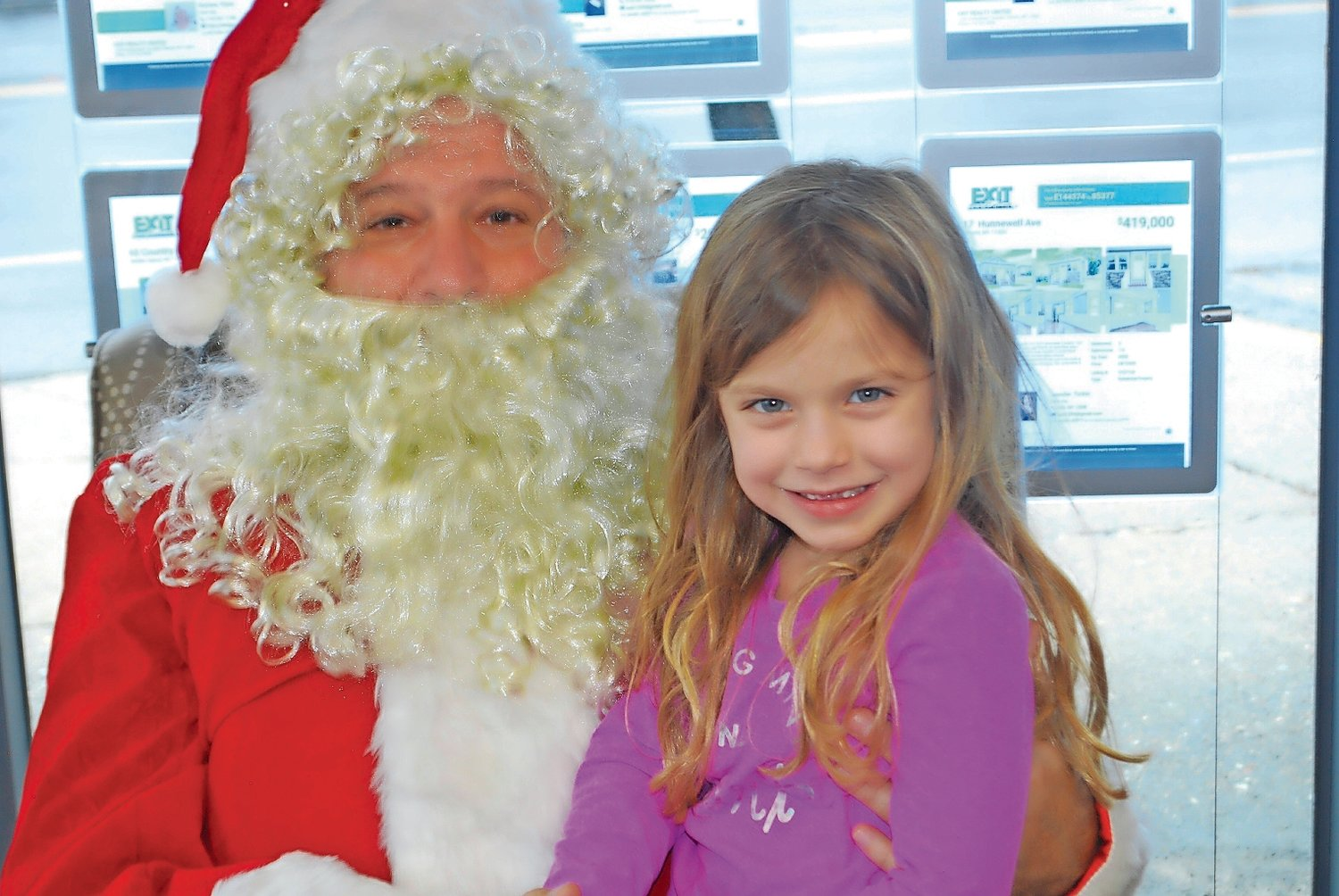 Jayne Hunsberger, 5, could not wait to tell Santa what she wants for Christmas.