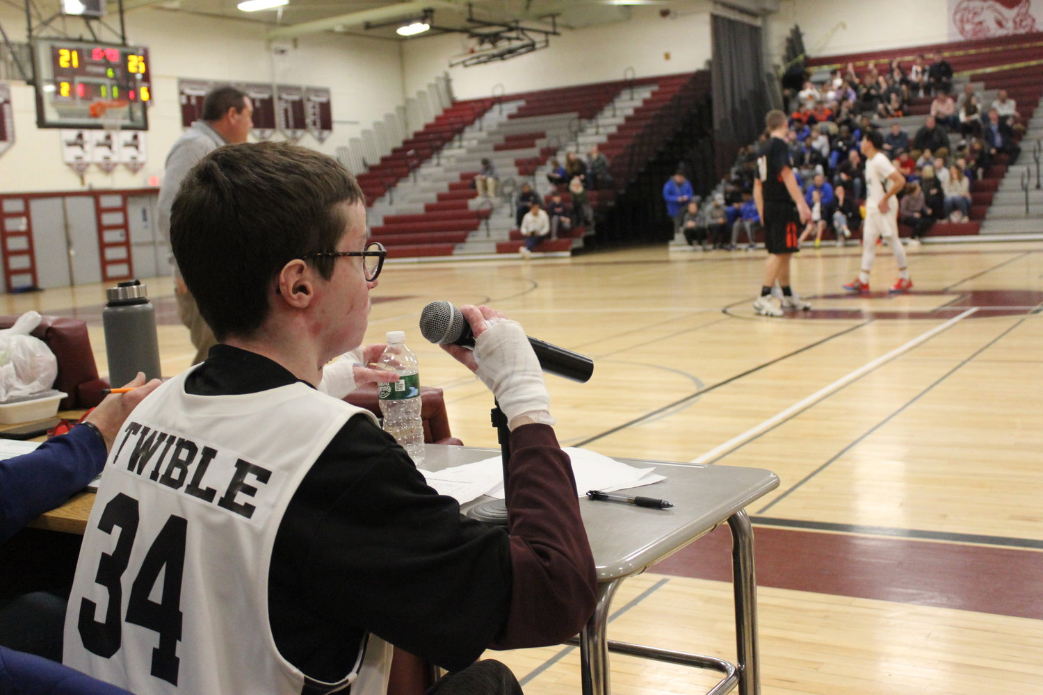 Twible has announced the games at W.T. Clarke High School since his freshman year.