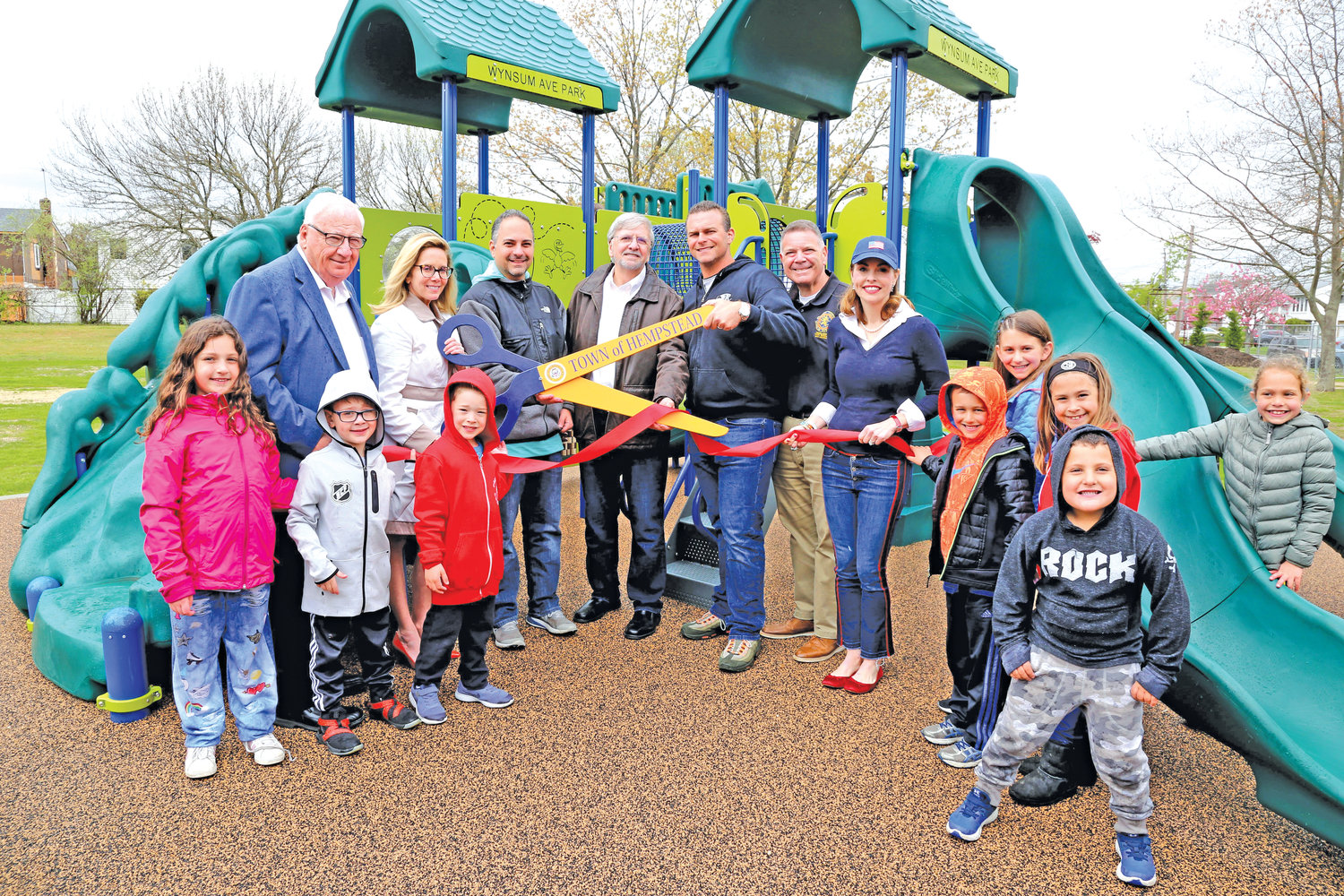After a five-year effort by the South Merrick Community Civic Association's Let's Play 11566 committee, the playground opened in April 2019.