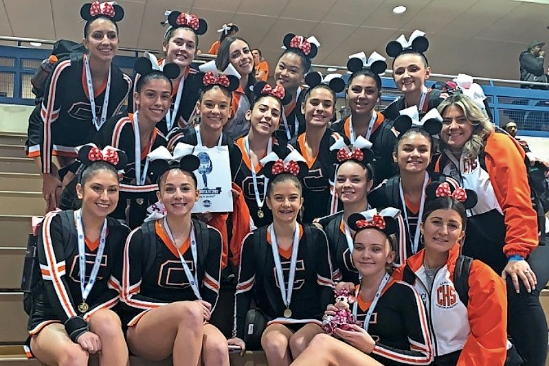 The Carey cheerleading team won seventh-place in the medium varsity Division 2 category at regionals, and earned a spot at the national competition.