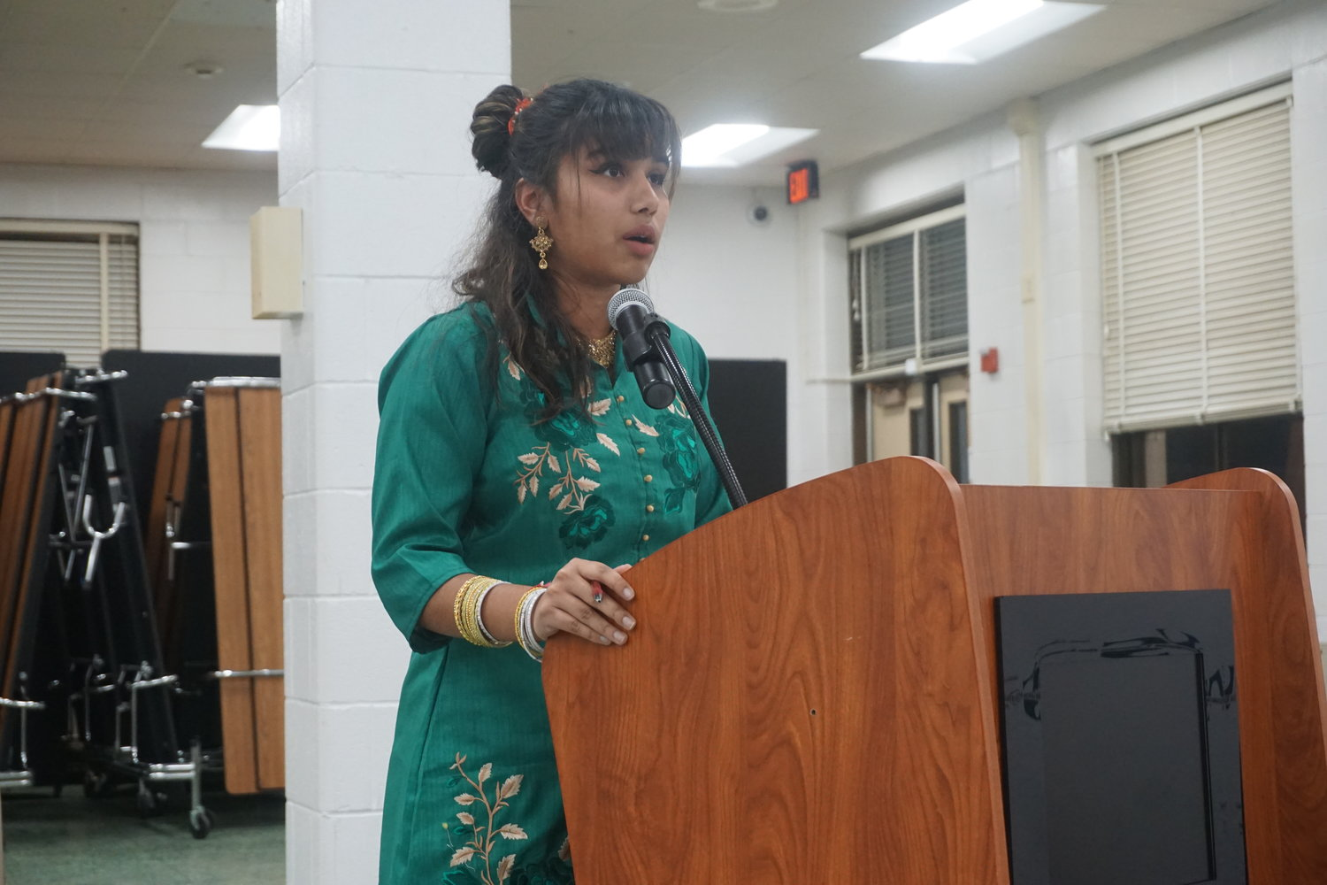 South graduate, Abby Arjune, renewed her push to have the Hindu holiday of Diwali recognized on the high school district calendar. It is the third time she has come before the school board.