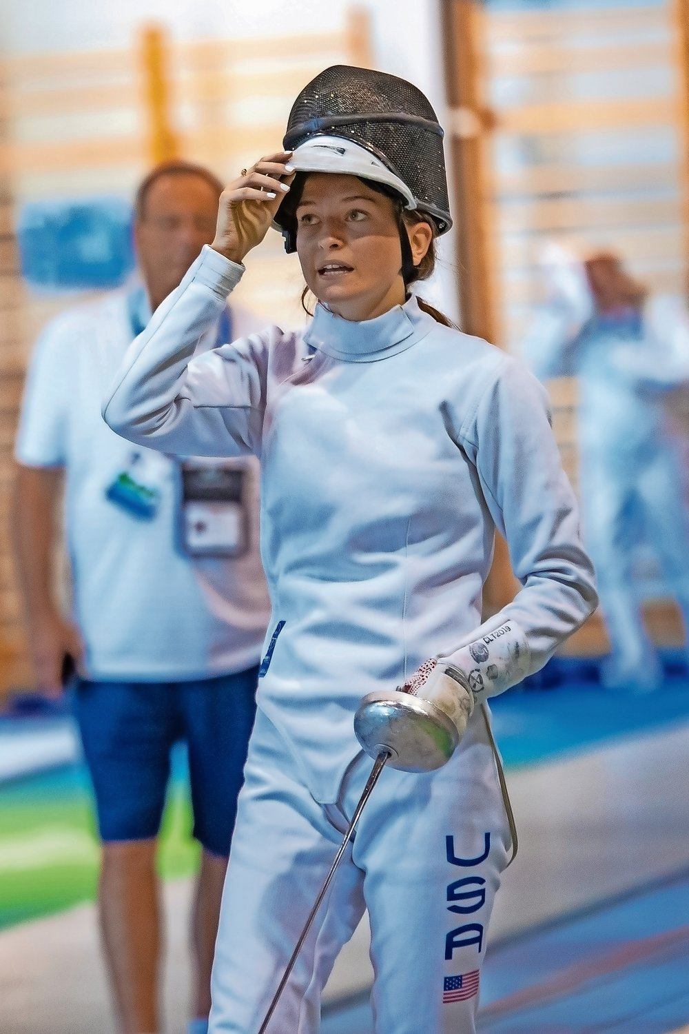 Oyster Bay High School fencer Rachel Kowalsky took home to gold medals at the 2019 European Maccabi Games.