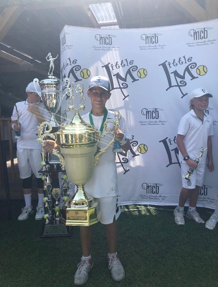 Cooper Schorr, 12, has played tennis since he was 3, and was recently ranked No. 12 in the sport for his age by the U.S. Tennis Association after he and Zavier Augustin, of Malverne, won a doubles title at the USTA's Empire Cup in Mamaroneck.