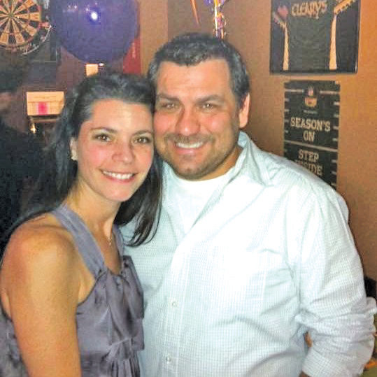 Jason Vitale with his wife, Jennifer.