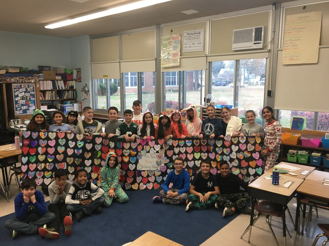 "Students at Bowling Green Elementary School in the East Meadow School District conducted several fundraisers as part of ""Hope for the Holidays,"" which assists families in the school community."