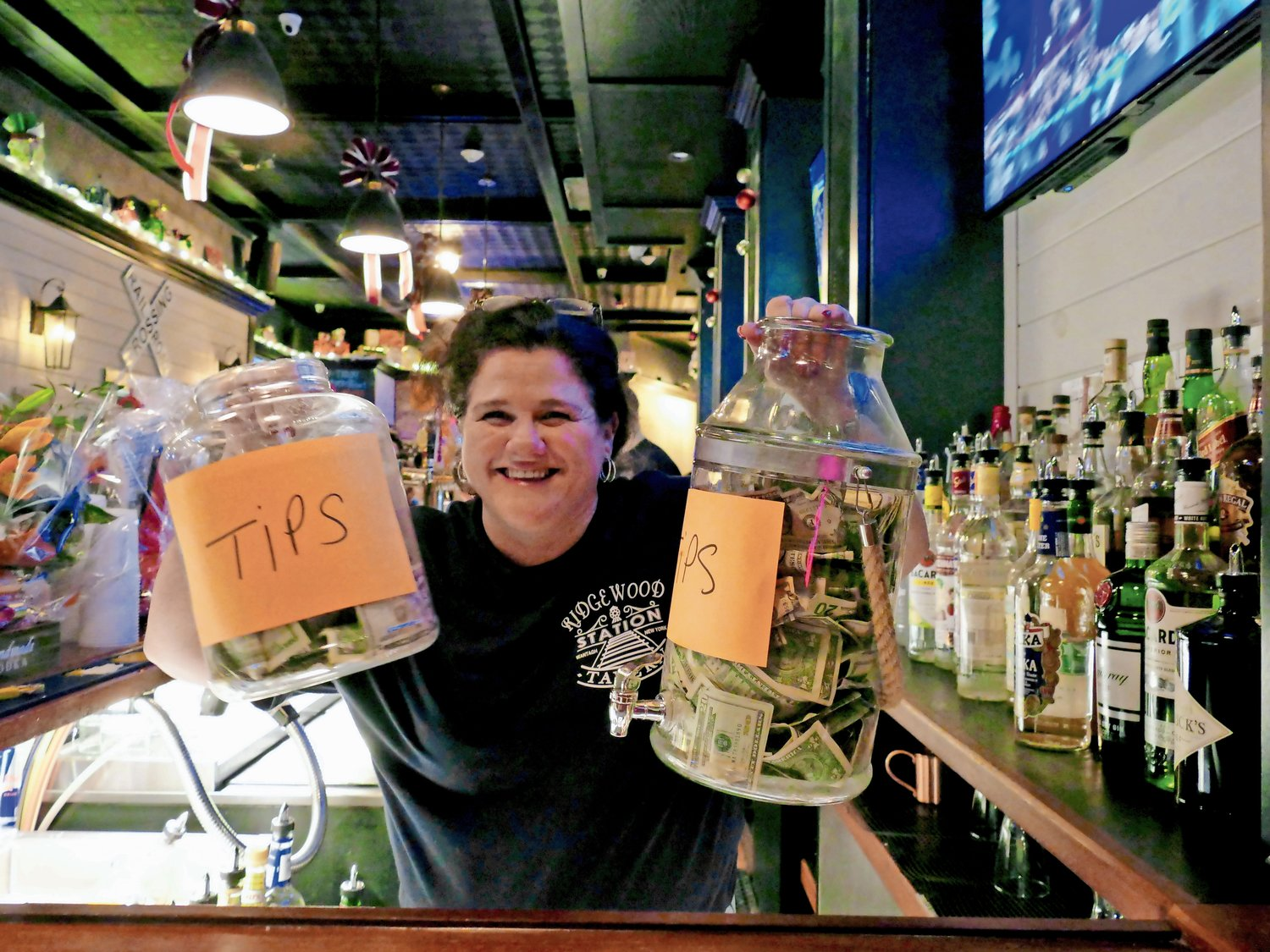 Patrons tipped the bartenders generously during the fundraiser.