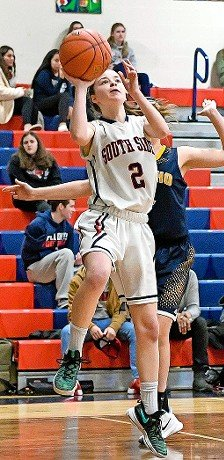 Senior Theresa Kenny was part of a balanced scoring attack as South Side rolled to an easy victory over Conference A-III rival Jericho on Dec. 20.