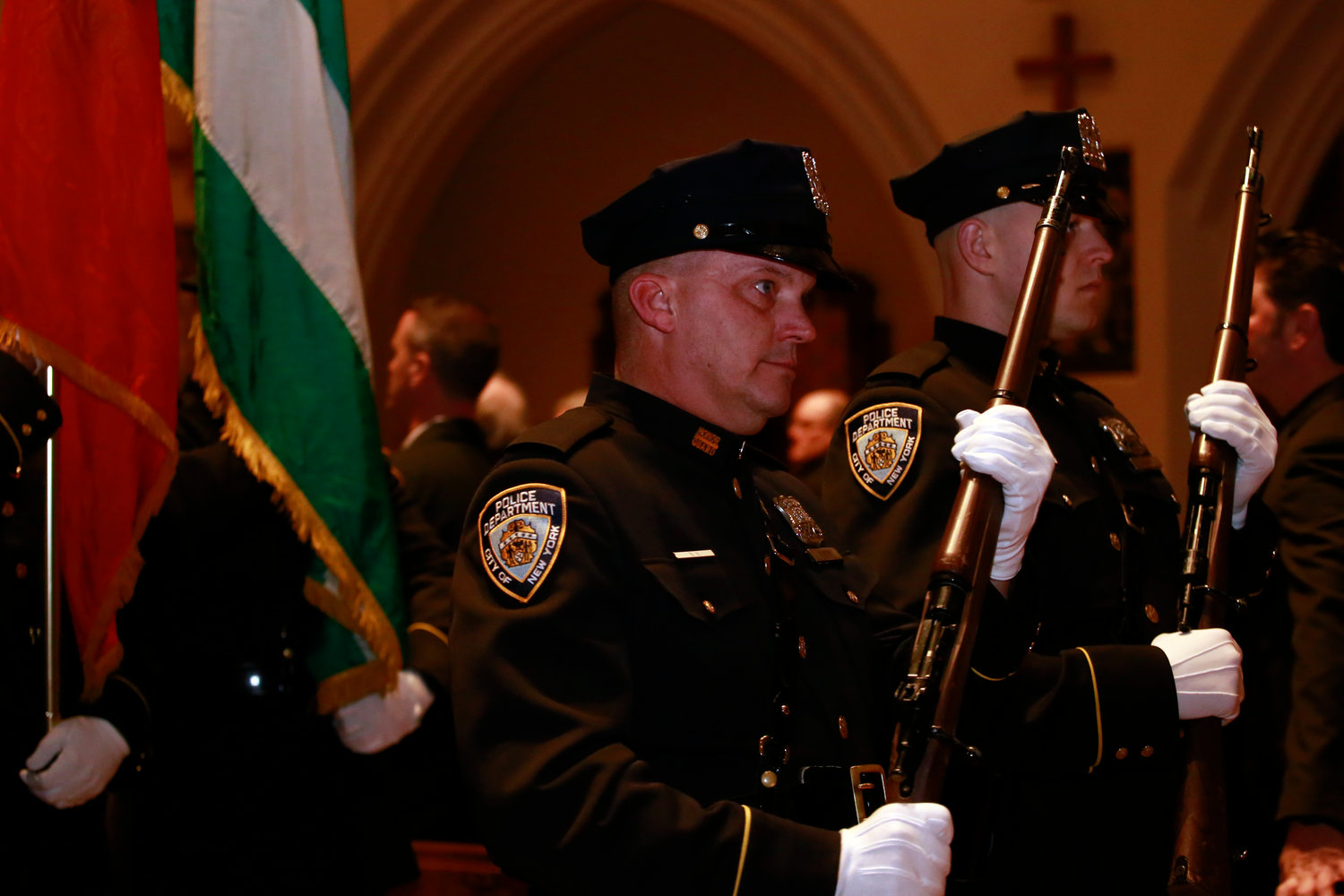 NYPD officers honored McDonald during the memorial service.