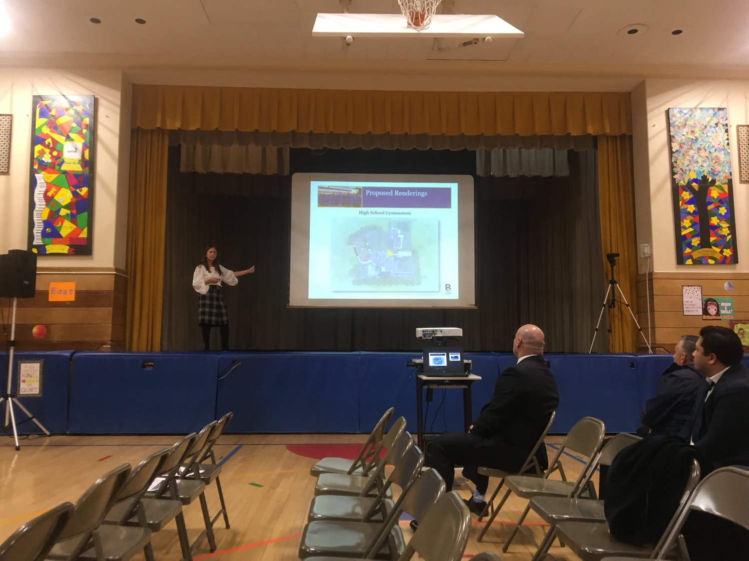 Schools Superintendent Dr. Shari Camhi presented the plans for Innovation 2020 at a Jan. 8 school board meeting at Plaza Elementary School.