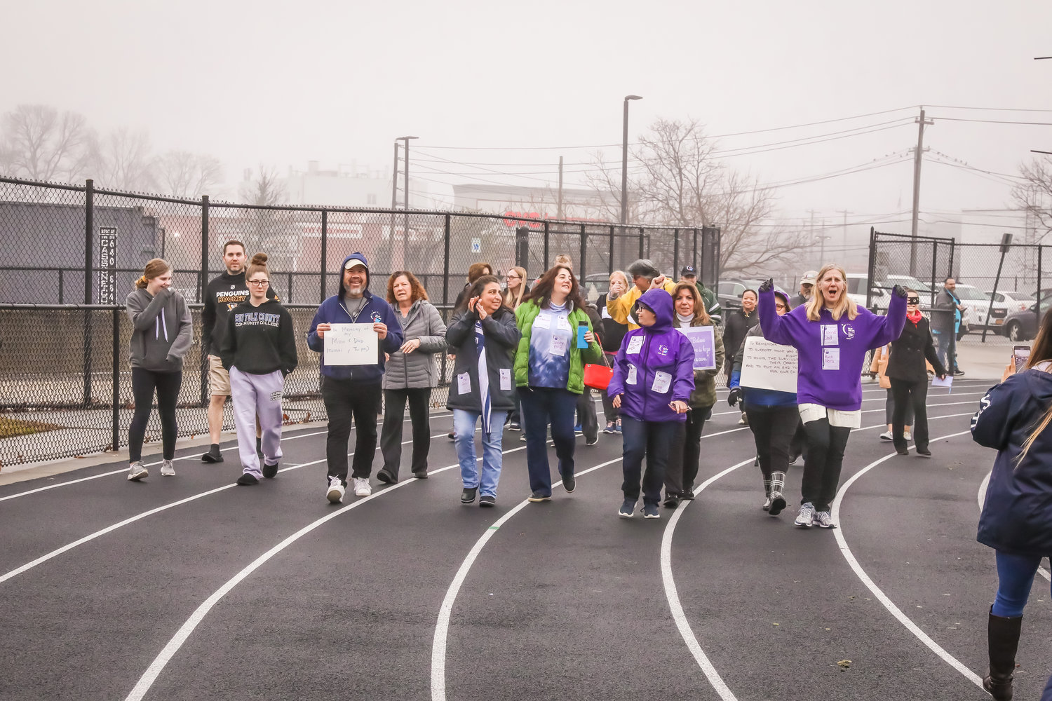 "Local residents took part in the ""First Lap"" in association with the American Cancer Society's Relay for Life on Jan. 4."