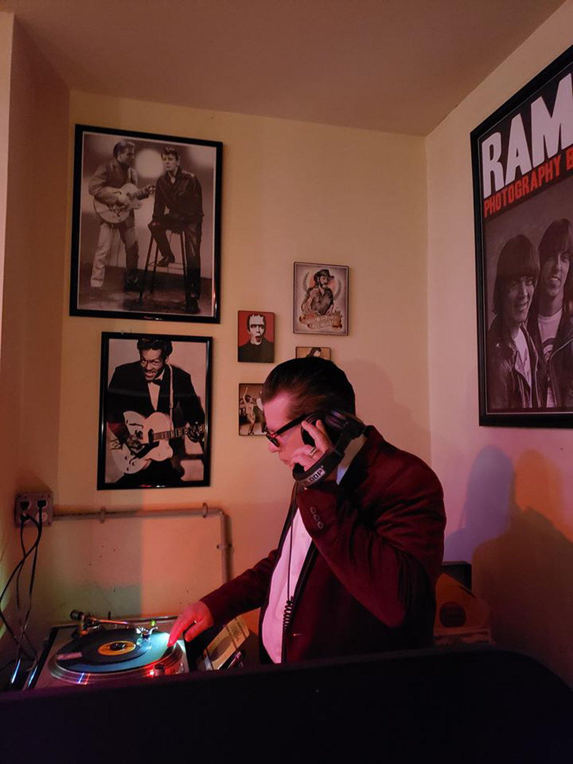 DJ Rockin' Daddy-O is one of many DJs who contribute to the scene at the bar.