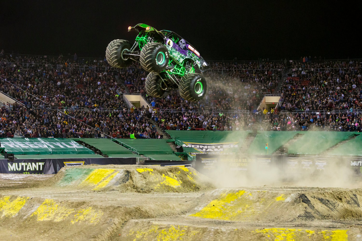 Monster trucks reach epic heights in the latest edition of Monster Jam. Grave Digger and other popular trucks will thrill fans with exciting car-crunching feats in their customized high-power vehicles.