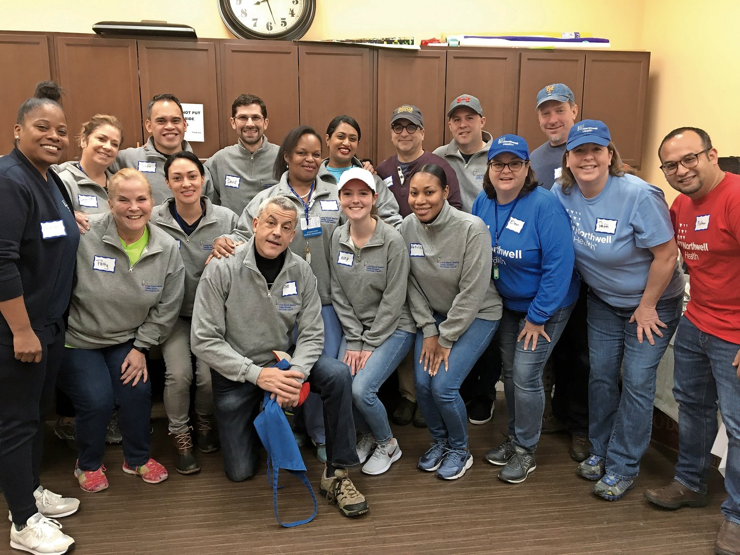 More than 20 Long Island Jewish Valley Stream employees volunteered at the Mary Brennan INN on Jan. 10.