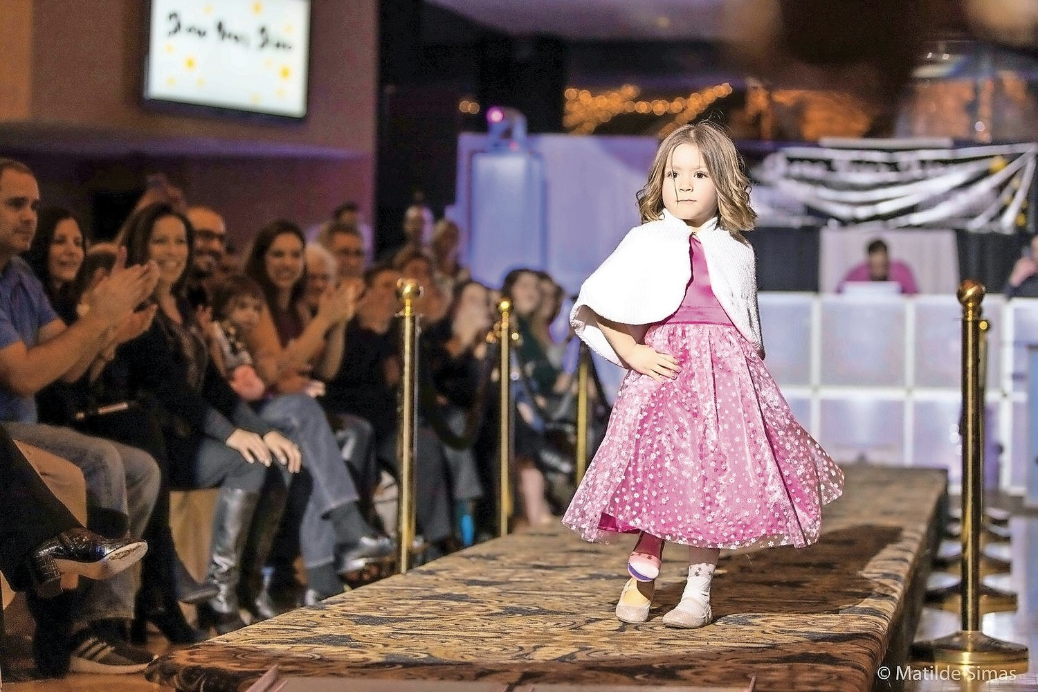 "Aurora Browne, 5, of Newark Valley, N.Y., walked the runway at the ""Show Your Shine"" event in Oceanside on Jan. 11."