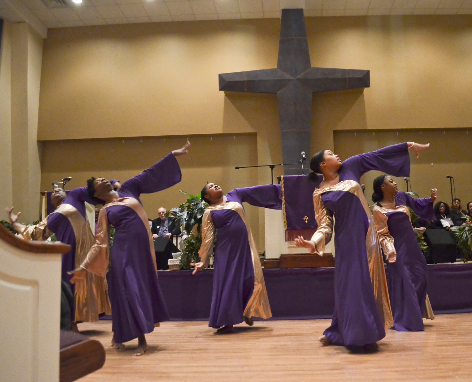 Members of the Eternal Praise Dance Ministry of Mt. Horeb Baptist Church of Corona performed for hundreds of people who turned out for the annual Dr. Martin Luther King Jr. Ecumenical Service at the Second Baptist Church of Baldwin on Sunday.