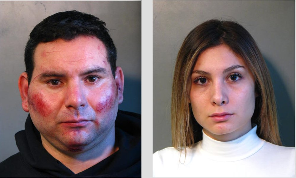 Boneek Alexander Quintero-Baeza, left, and Alexandra Ivonne Pizarro-Blanche, along with Levy Frank Maury Bruggman, not pictured, are alleged to have burglarized several homes across in Nassau County, including Hewlett Harbor.