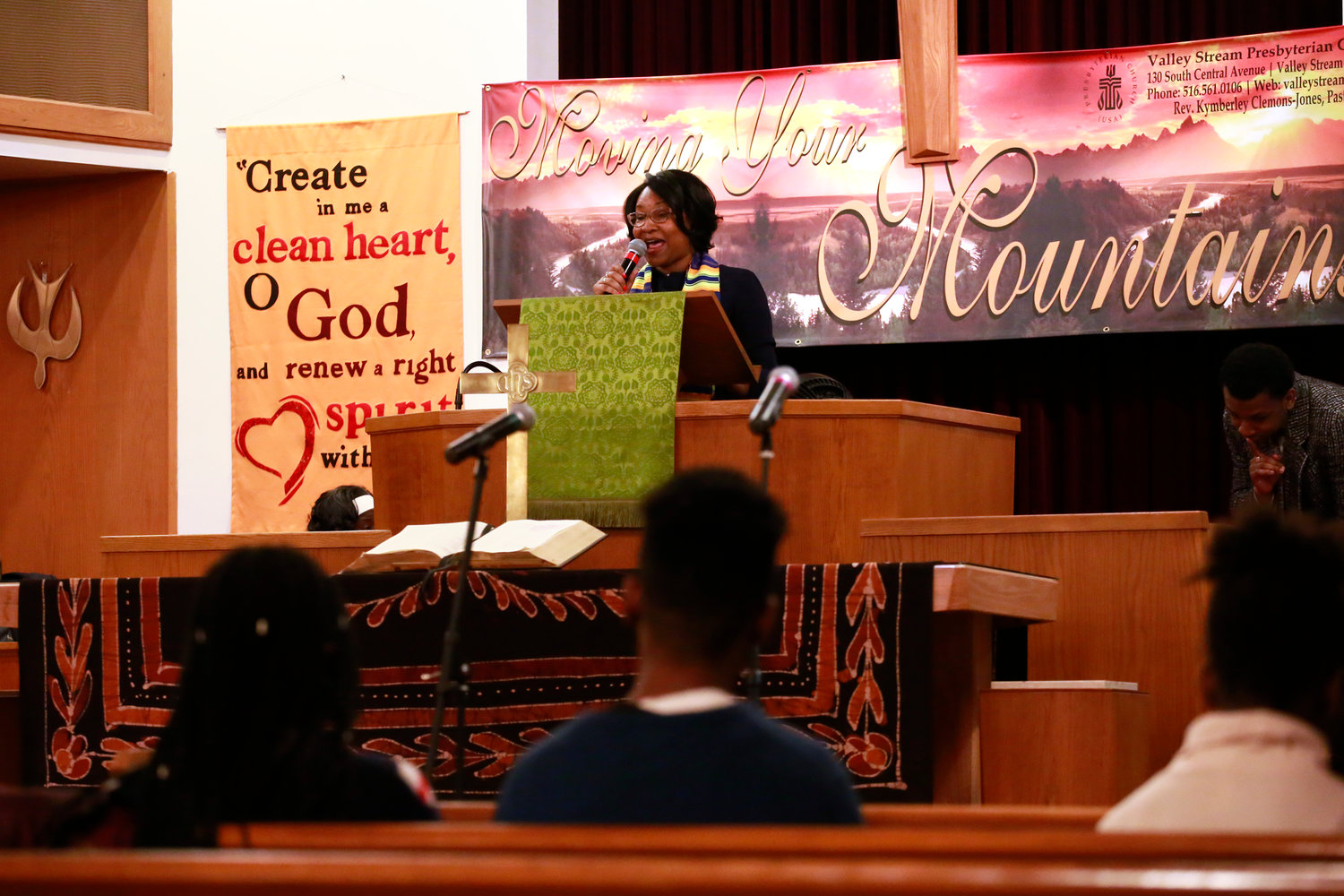 "The Rev. Kymberley Clemons-Jones, delivered a sermon titled, ""Will you be affluent or an influence?"""