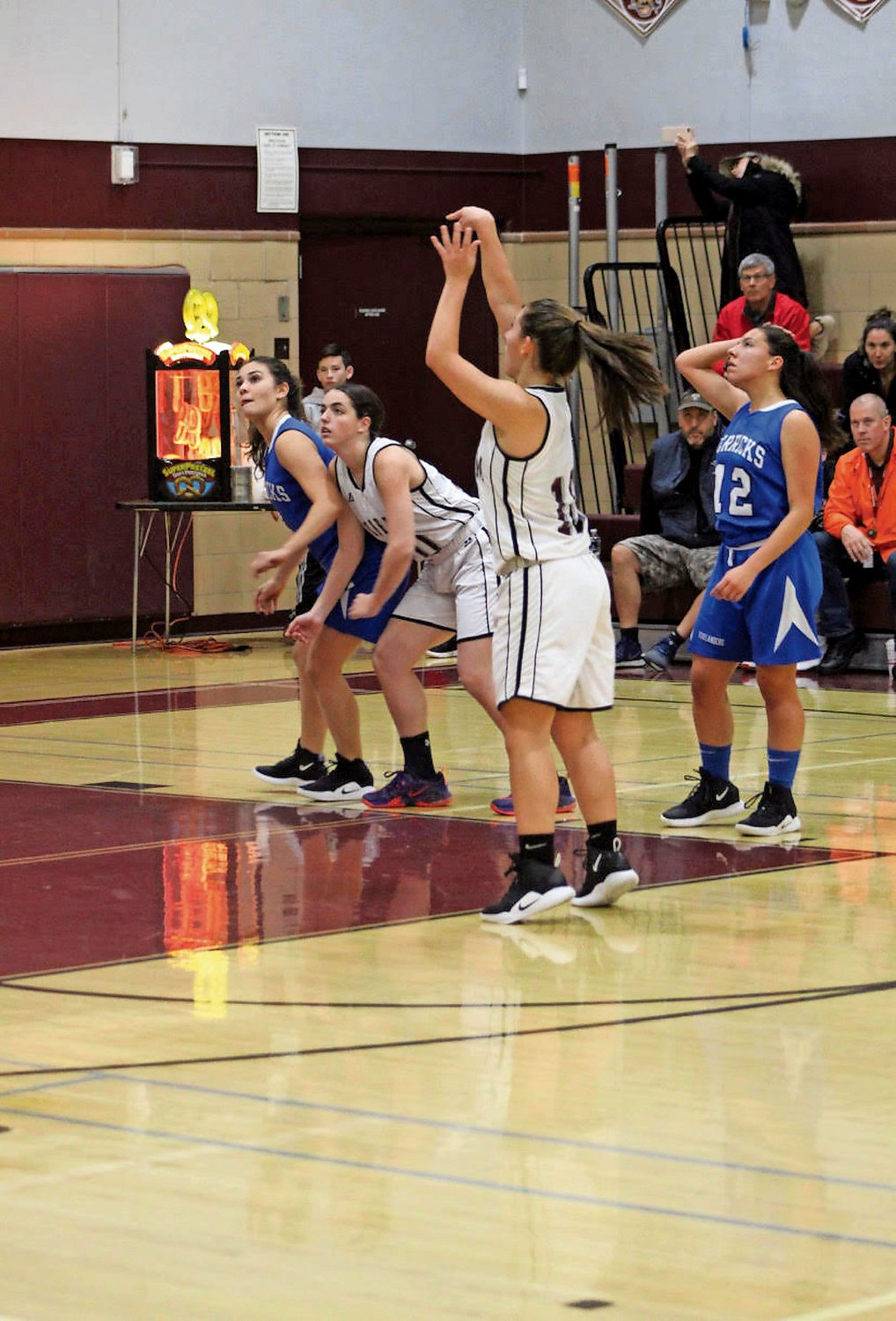 Mepham High School senior Lorrie Dellacroce shot a free throw during a conference game against Herricks this season on Dec. 20.