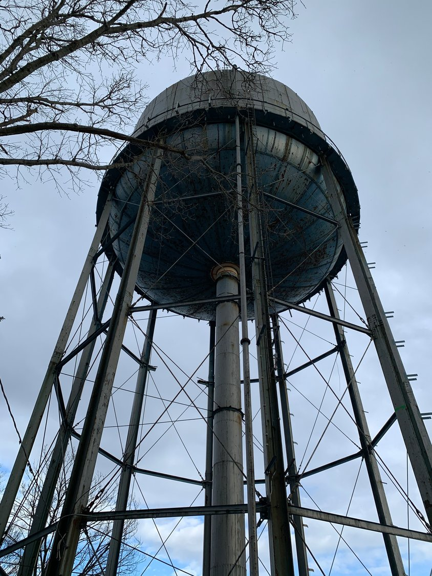 The water tank, on Dumond Place, has been wearing down for decades.