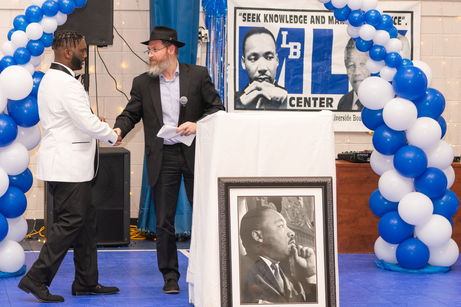 Hodge thanked Rabbi Eli Goodman, of the Chabad of the Beaches, for his speech during the MLK Center's commemorative program.