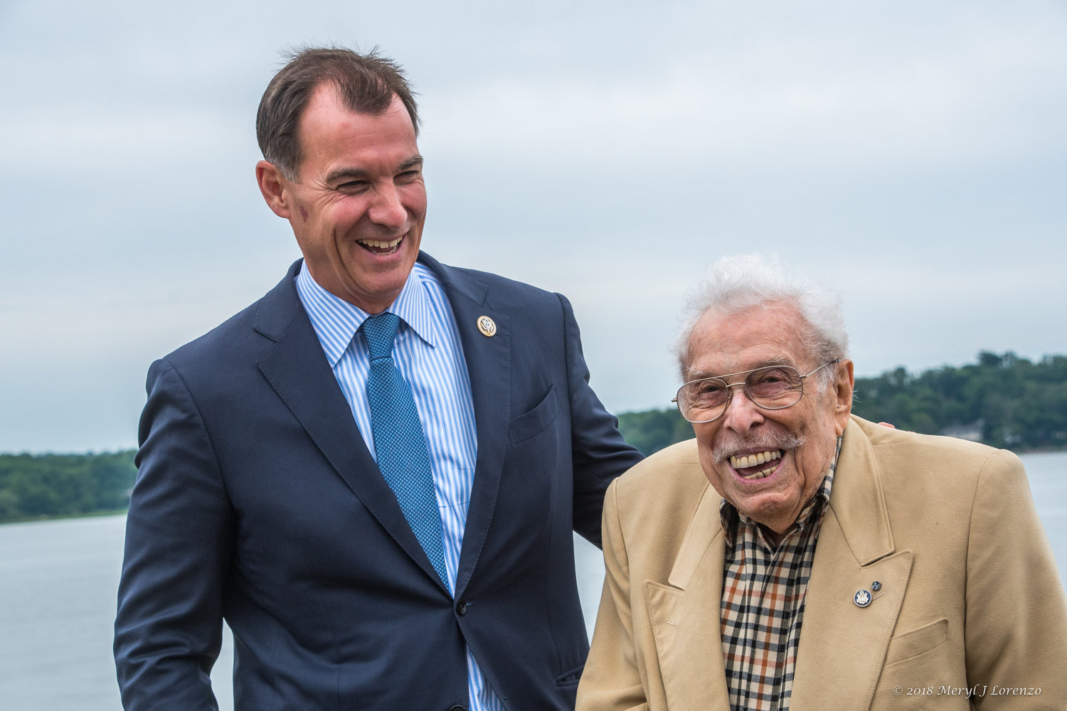 U.S. Rep. Tom Suozzi honored former Congressman Lester Wolff for his service to the North Shore by sponsoring legislation to rename an Oyster Bay wildlife refuge after him. President Trump signed the measure into law on Monday.