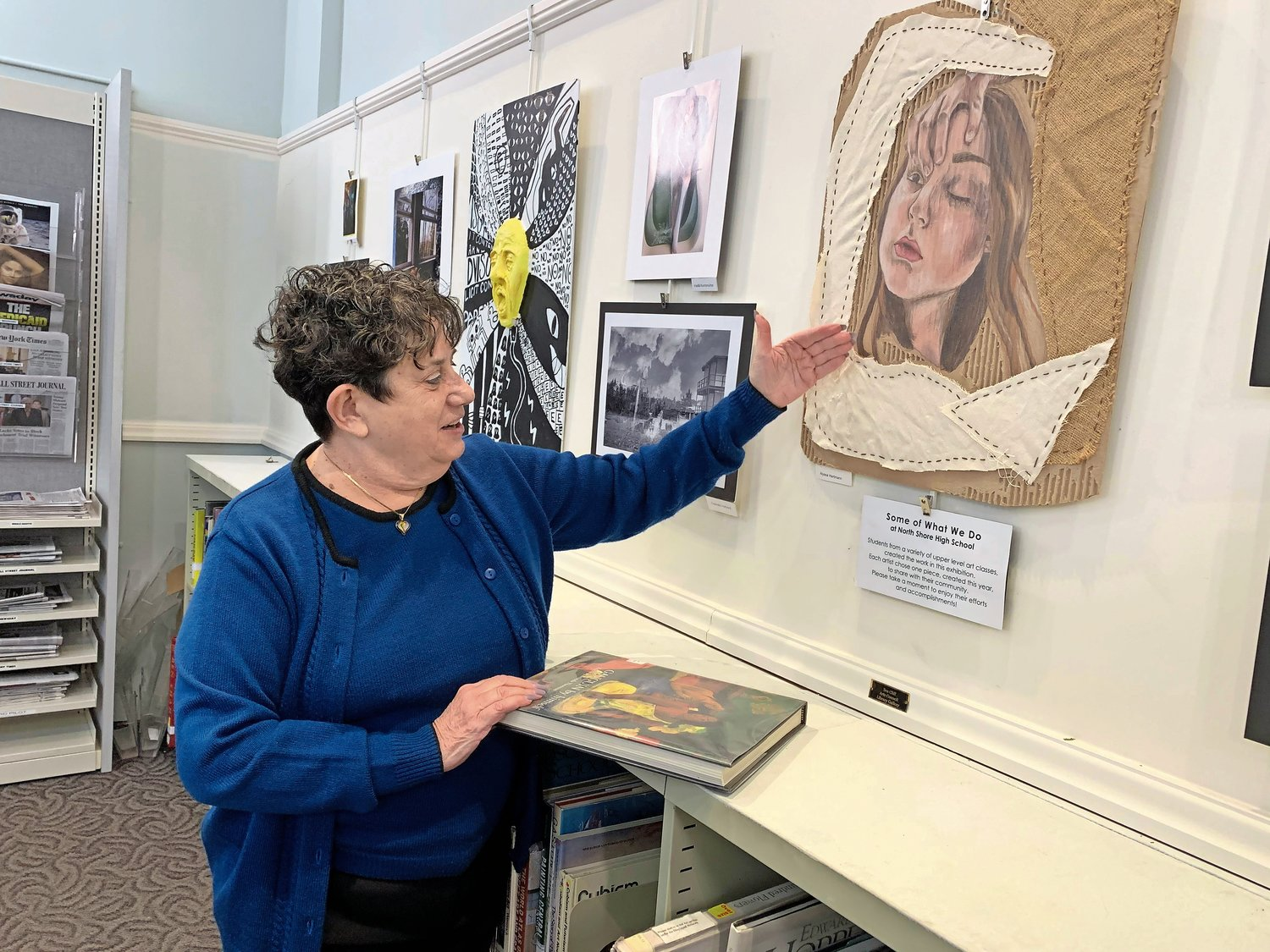 Sea Cliff Village Library Director Arlene Nevens said she loved being able to feature artwork by local artists and students.