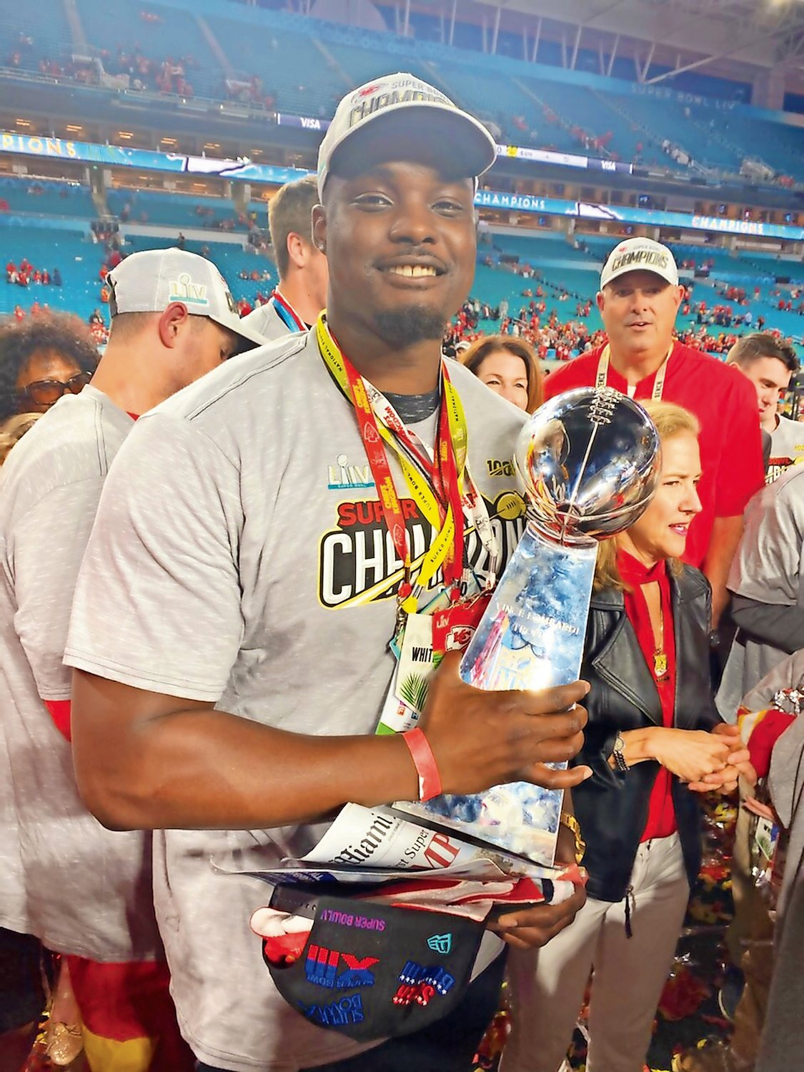 Greg Senat is an offensive tackle for the Super Bowl-winning Kansas City Chiefs.