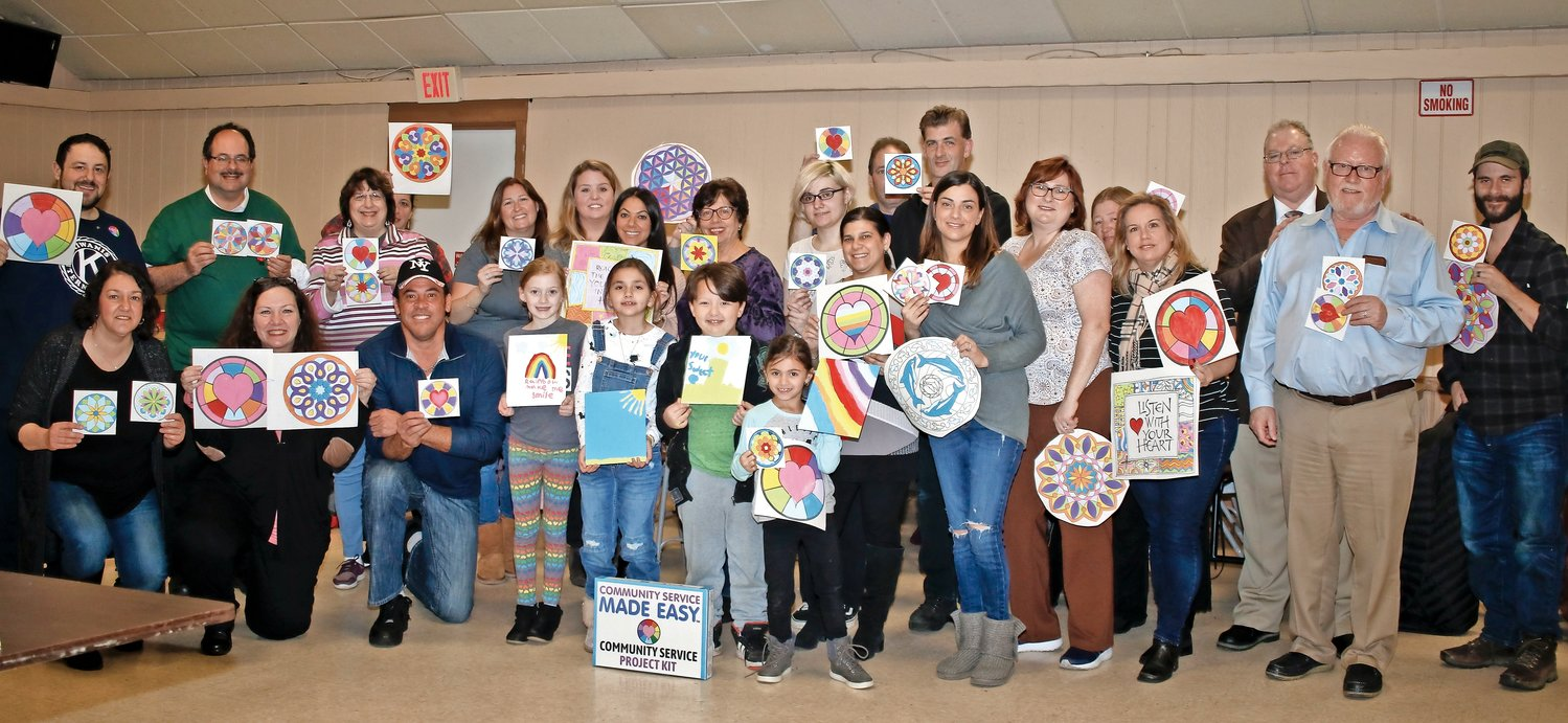 The Kiwanis Club of Franklin Square held a Paint Night on Feb. 7, when residents painted one piece for St. Mary's Children's Hospital in Bayside, Queens, and another for themselves.