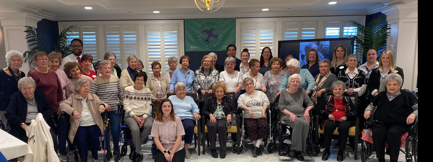 Bristal residents from East Northport, Holtsville, Jericho, Lake Grove, Massapequa, North Hills and North Woodmere who are part of the Helping Hands Community Volunteer Program.