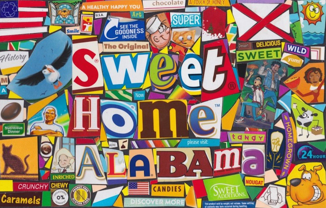"Michael Albert's original ""Cerealism"" creation was made in 1996 and they often include written messages. Above, includes the title of the classic Lynyrd Skynyrd song ""Sweet Home Alabama."""